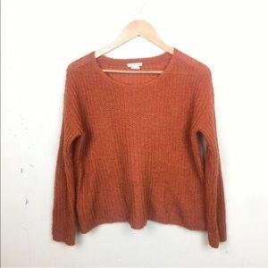 Club Monaco Orange Mohair Blend Boxy Sweater